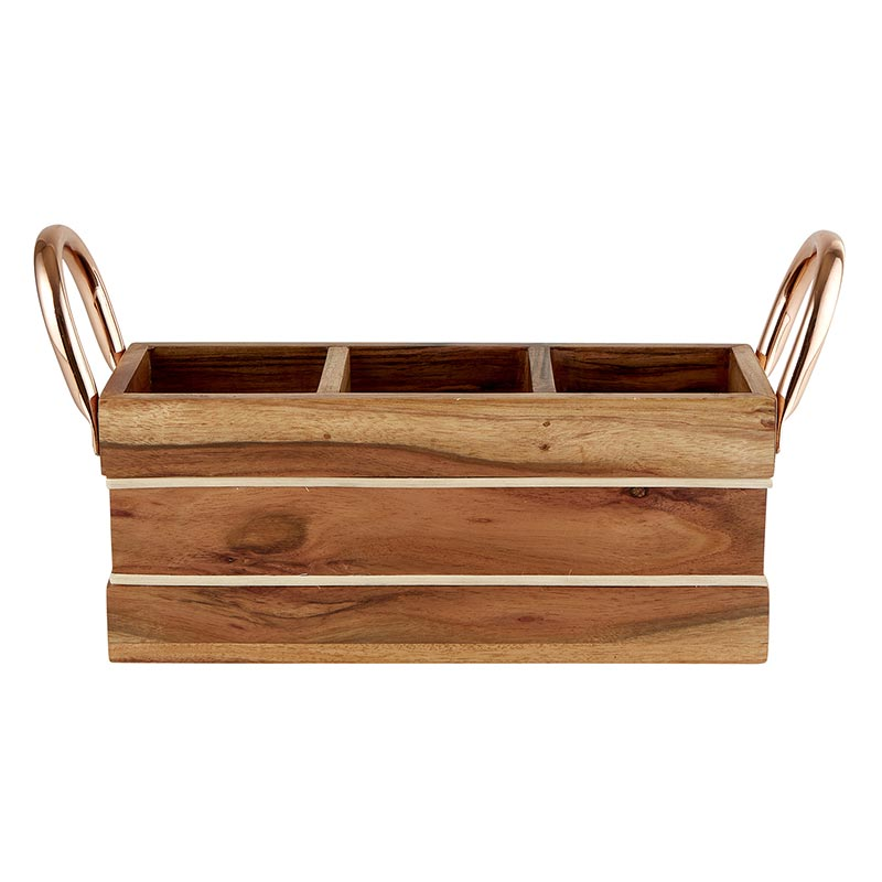 AMR695 - Wooden Serving Caddy by CBGifts