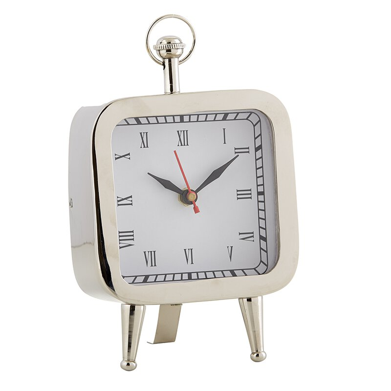 MR714 - Set of 2 - Modern Clock - Nickel by CBGifts